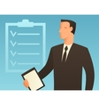 Planning business conceptual with vector image