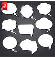 Speech Bubble Drawn With Chalk Set vector image