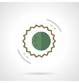 Sun and moon flat color design icon vector image