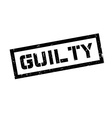Guilty rubber stamp vector image