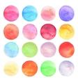 set drawn watercolor Round shapes vector image