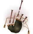 Scottish bagpipe vector image