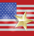 star for success on united states of america flag vector image vector image