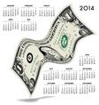 2014 Dancing Dollar Calendar vector image