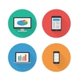 Responsive Design Flat Icons Set vector image