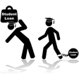 Student loan burden vector image vector image
