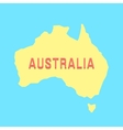 silhouette of Australia in yellow and blue colors vector image