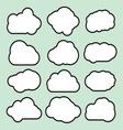Oblaci prosti lineart1 resize vector image vector image
