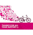 Breast cancer awareness health bike pink elements vector image vector image