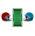 American Football Helmets and Field vector image