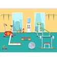 Fitness gym in flat style vector image