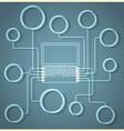 Creative Laptop vector image vector image