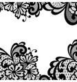 Black lace corner vector image