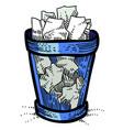 cartoon image of trash vector image