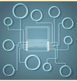 Creative Laptop vector image