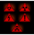 Danger signs vector image