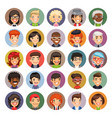 flat cartoon round avatars on color vector image