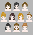 girl hair style collection vector image