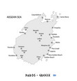 island of paros in greece white map vector image