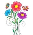Kidstyle flower vector image