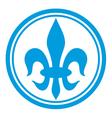 lily flower - heraldic symbol fleur de lis vector image