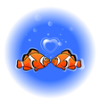 love funny fish vector image