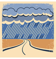 Rain Vintage poster vector image