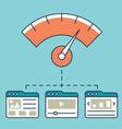 Web analytics information development website vector image