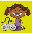 girl game control icon vector image