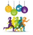 runner athlete running design vector image