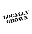 locally grown rubber stamp vector image