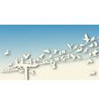 bird roost cutout vector image