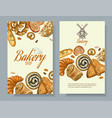 Bakery vertical banners vector image