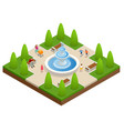 beautiful fountain in the park a zone of rest and vector image