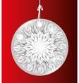 bright jewel luxury silver grey icon vector image