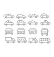car line icons vector image
