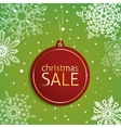 Christmas sale tag on a snowy background vector image