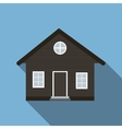Flat House Icon with Long Shadow vector image