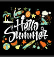 hello summer to print t-shirts vector image