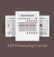 Internet Site Map Navigation Structure Prototype vector image