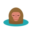 monkey head cartoon style vector image