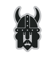 viking head symbol vector image