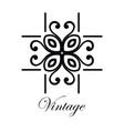 vintage logo template vector image