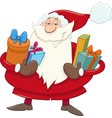 santa with presents cartoon vector image