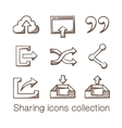 Sharing icons collection vector image