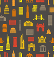 Modern city silhouettes seamless pattern vector image
