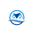 house realty roof construction logo vector image