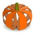 Abstract applique pumpkin on Halloween vector image
