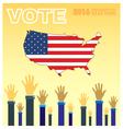 Digital usa presidential election 2016 vector image