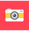 Flat design photo camera vector image